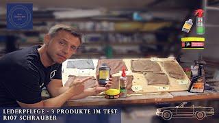 Lederpflege im Auto - 3 Produkte im Test - Liqui Moly Nigrin Lederbalsam Meguiar's - R107 Schrauber