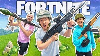 FORTNITE IN REAL LIFE CHALLENGE!! (WINS 10,000 VBUCKS)