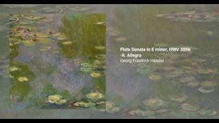 Flute Sonata in E minor, HWV 359b