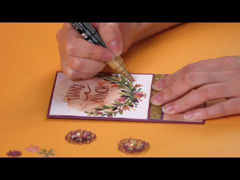 Gorgeous Floral Design Thank You Card by Lindsey Serata | Sizzix