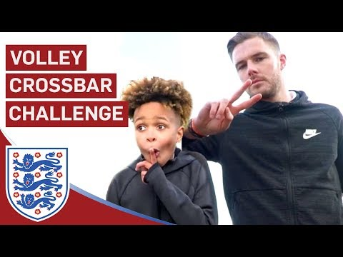 Butland Takes On Tekkerz Kid and Romello! | Volley Crossbar Challenge | U17 Euros