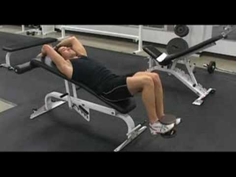 Incline Bench Weighted Knee Raise Exercise Com