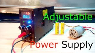 how to make a variable power supply voltage and current