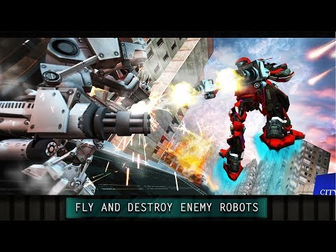 Future Flying Robot City Wars Android Gameplay