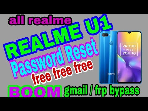 REALME C1 hard reset petterm unlock without computer/pc frp