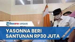 Menkumham Jenguk Korban Kebakaran Lapas Kelas I Tangerang, Yasonna Beri Santunan sebesar Rp30 Juta