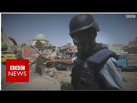 At the ruins of al-Nuri mosque in Mosul – BBC News