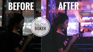 Photoshop edit | Neon & Bokeh | From dark to colorful