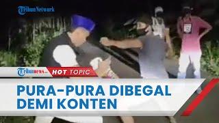 Viral Video Ustaz Dibegal di Lampung lalu Lawan Hajar Pelaku, Akui Cuma Konten saat Diperiksa Polisi
