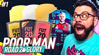 THE BEGINNING!! HARDEST RTG I WILL EVER DO!   POOR MAN ROAD TO GLORY #1   FIFA 20 Ultimate Team
