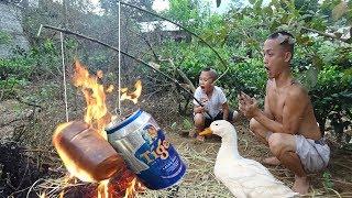 Vịt Rúc Lon Bia - Đẳng Cấp Đốt Cây Rơm Nướng Vịt Của Mao Đệ Đệ Cười Thối Ruột