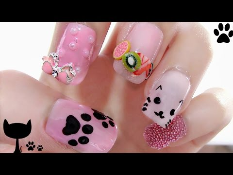 5 Cute Nail Art Designs + Cat & Heart Shaped Sunglasses Reviews + 3 DIYs/Ideas(Feature Dressgal)