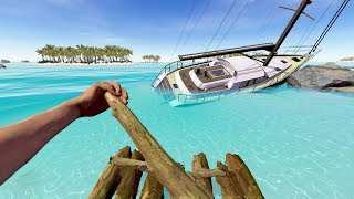 Island Survival After Yacht Crashes - Shimmer Early Access Gameplay