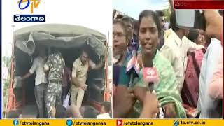 RTC Strike Continues in Warangal | Police Stops Rally