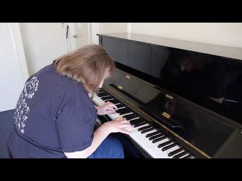 Blind and deaf lady playing piano - She would absolutely love it if you watched her video