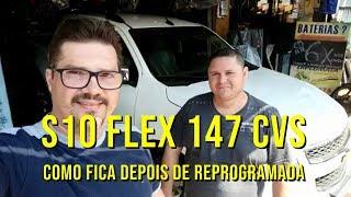 como fica uma S10 Flex chipada - 147 cvs