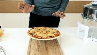 Пицца, картошка по-деревенски и чипсы в аэрогриле SUPRA AGS-1242.