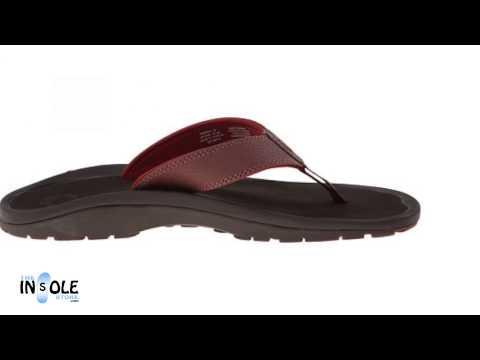 Olukai Ohana Brick & Dark Java Sandals for Men @TheInsoleStore.com
