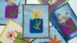 How To Make A Mini Flower Art Quilt