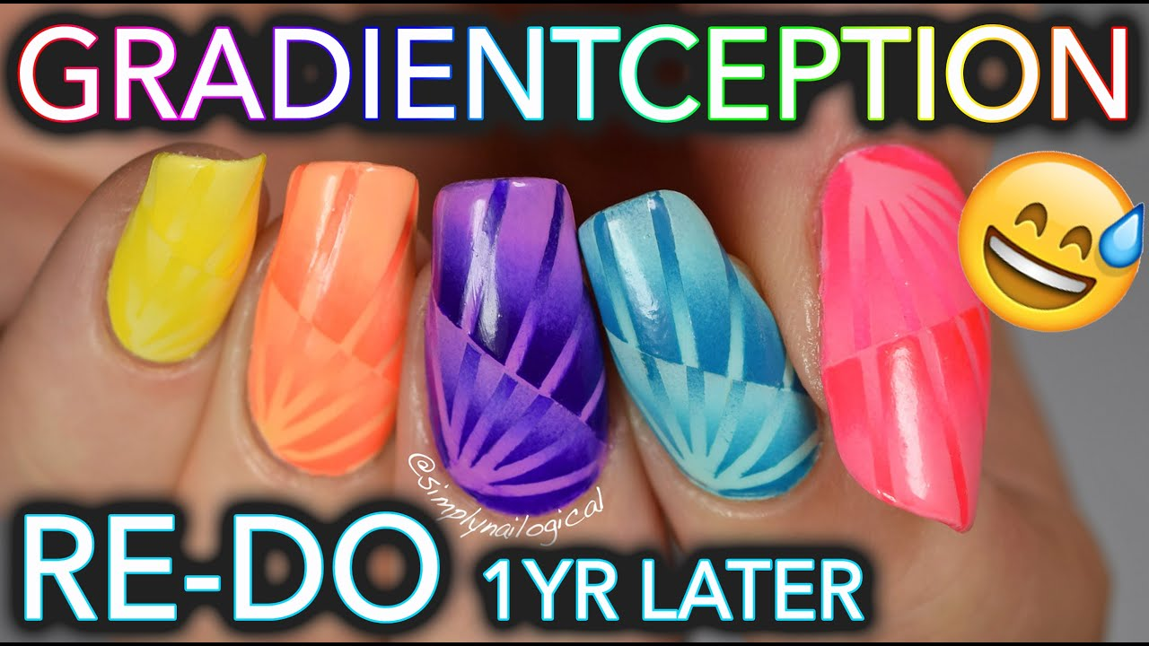 Most complicated gradient nails ever: OLD TUTORIAL RE-DO thumbnail