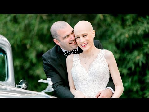 Woman goes ahead with wedding despite cancer diagnosis