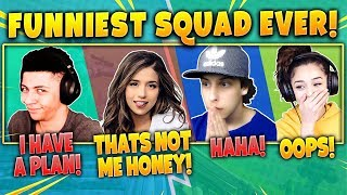 Myth, Pokimane, Cizzorz, Valkyrae! Funniest Squad Ever! Fortnite Battle Royale Highlights Moments!