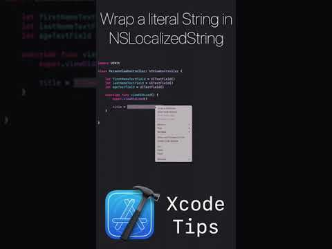 Xcode Tips #1 - Wrap a literal String in NSLocalized String thumbnail