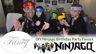 How I Made NINJAGO Birthday Party Favors - DIY MOM