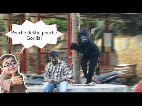 रांठी गोरिल्ला प्रैंक | KING KONG Gorilla prank First time in INDIA ( Must watch)😂 | Indian pranks