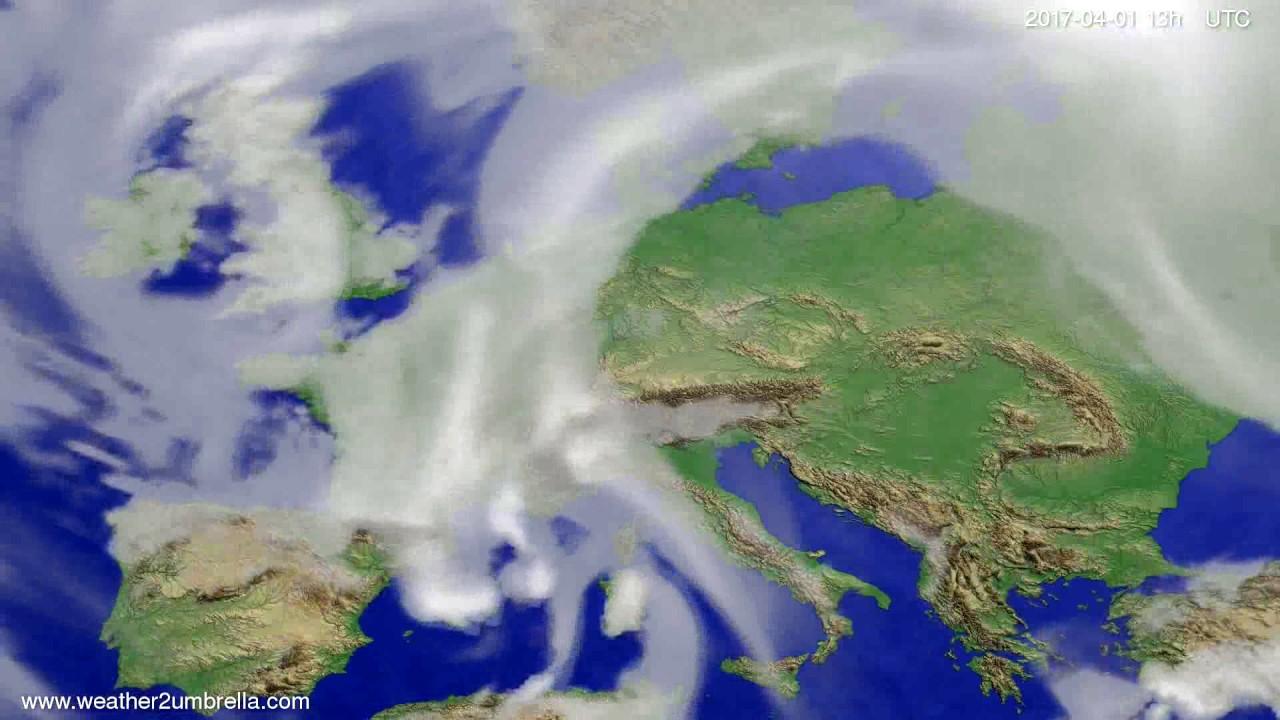 Cloud forecast Europe 2017-03-29