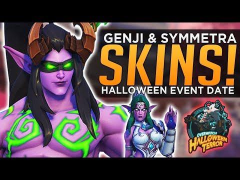 Overwatch: NEW Genji & Symmetra Skins! - Halloween Terror Event Date