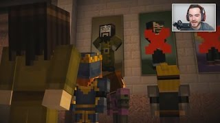 Youtubers React To THEMSELVES In Minecraft Story Mode