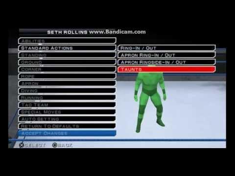 Download WWE SVR 11 PSP Seth Rollins Moveset (New Finisher) HD Mp4 3GP Video and MP3