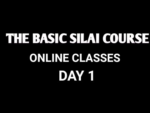 The Basic silai course  Day 1 l free online silai course by Parveen silai centre