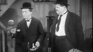 Laurel and Hardy Thumb-As-A-Lighter Gag