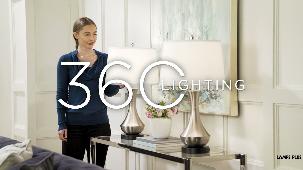 Video About the Simon Brushed Nickel USB Table Lamp Set of 2