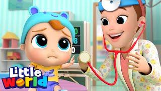Be Brave Baby John |  Doctor Checkup | Little Angel Kids Songs