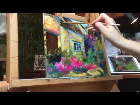 "Progression painting of ""Cotswold Charm"" by Chris Brandley"