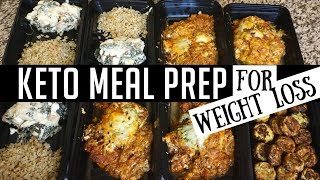 KETO MEAL PREP FOR WEIGHT LOSS | LOW CARB MEALS | KEILA KETO