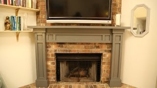 Build A Mantel Over A Brick Fireplace