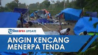 Tenda Korban Gempa di Majene Beterbangan Diterpa Angin Kencang, Pengungsi: di Mana Kami Berlindung?