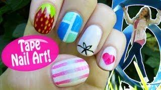 Tape Nail Art! 5 Nail Art Designs & Ideas Using A Scotch Tape!