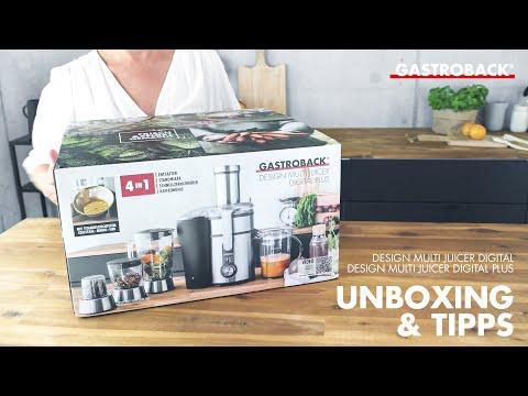 Unboxing und Tipps Gastroback Entsafter 40152 Design Multi Juicer Digital Plus