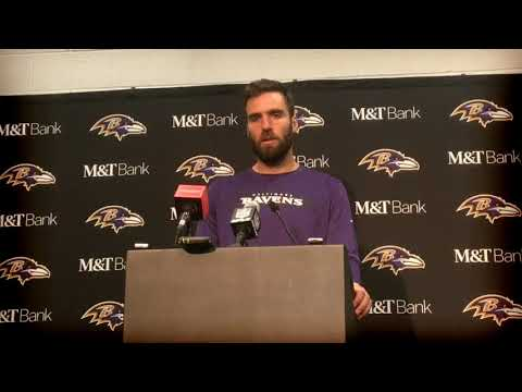 Baltimore Ravens QB Joe Flacco talks after blowout loss to Panthers 64a829d45