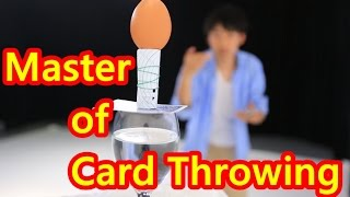 カード投げの達人【JOE・MAGIC】公式PV - Master of  Card Throwing