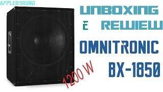 Subwoofer Omnitronic BX-1850|Unboxing&Recensione