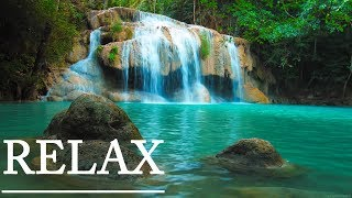 Relaxing Music and Calming 4K Waterfall Nature: Sleep Relaxation