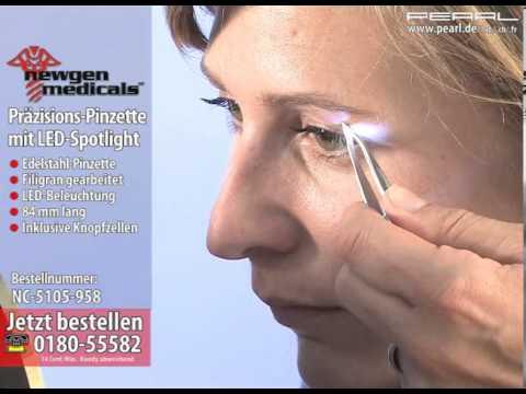 newgen medicals Präzisions-Pinzette mit LED-Spotlight