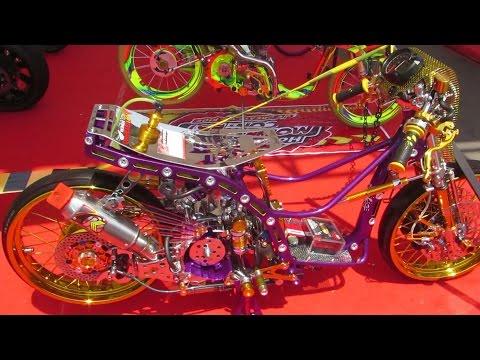 Video Modifikasi Motor Matic Drag Race KINCLONG - Honda Beat Modifikasi (Matic Drag Bike Indonesia)