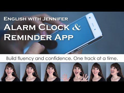 NEW! 📱English with Jennifer Alarm Clock & Reminder App